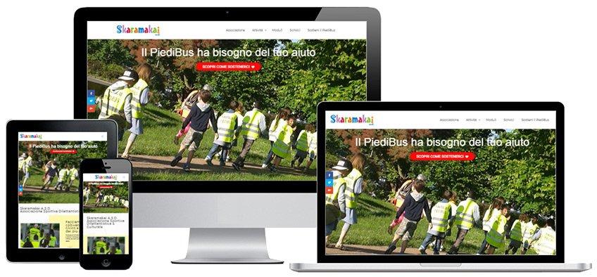 Portfolio Web Realizzazione Siti Internet Forlì | ASD Skaramakai
