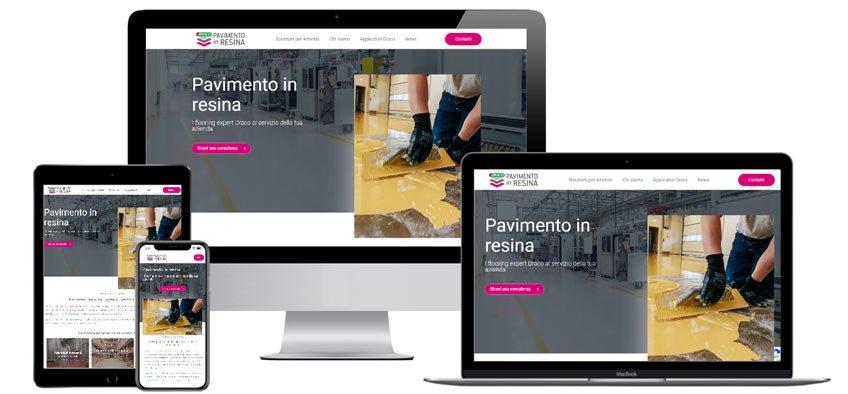 Portfolio Web Realizzazione Siti Internet Forlì | Pavimento in Resina - Draco
